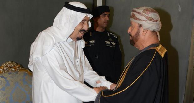 تحيات جلالة السلطان لخادم الحرمين ينقلها بدر بن سعود