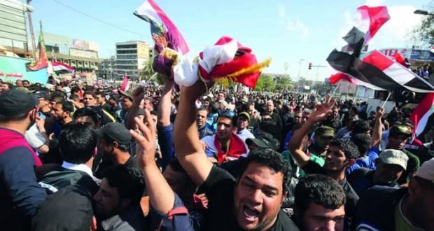 العراق: الصدر يقود اعتصاما وسط بغداد والعبادي يتعهد بحماية المتظاهرين