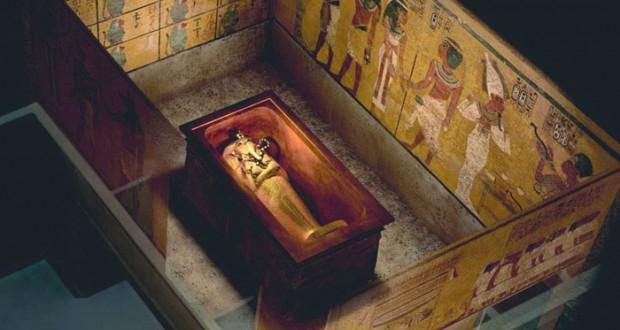 المسح الراداري الأولي لمقبرة توت عنخ آمون يظهر غرفتين خلفها