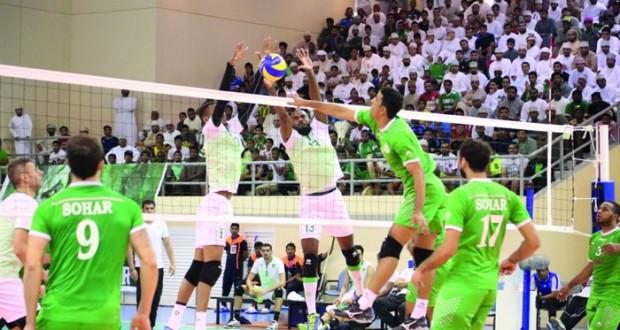 إثارة كبيرة تشهدها فعاليات بطولة الأندية الخليجية الـ٣٥ في الكرة الطائرة