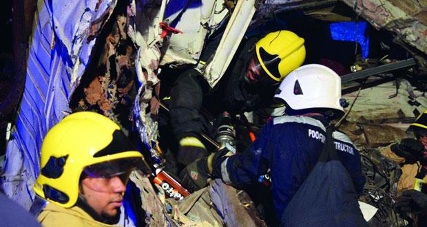 وفاة 18 شخصاً وإصابة 16 آخرين بإصابات مختلفة في حادث سير في فهود