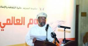 هلال العامري يشارك في احتفائية ثقافية بيوم الشعر العالمي بالشارقة
