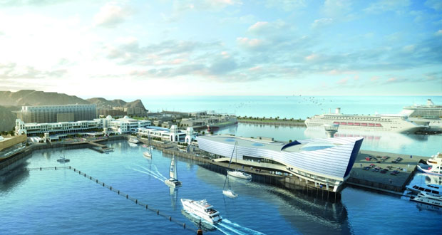 """عمران تعلن عن مشروع """" بازار الميناء """" بالواجهة البحرية بمطرح .. والافتتاح نوفمبر القادم"""
