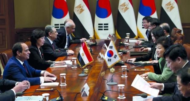 مباحثات مصرية ــ كورية جنوبية والتوقيع على 9 اتفاقيات ومذكرات تفاهم