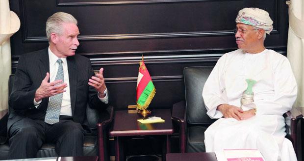 الرواس يستقبل الرئيس والمدير التنفيذي لمجلس إدارة مركز سياسات الشرق الأوسط
