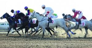 تنافس وإثارة كبيرة يشهدها السباق السابع عشر للخيول
