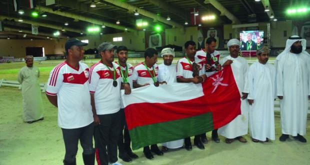 السلطنة تتوج بفضية وبرونزيتين فى بطولة سلطان بن زايد لالتقاط الأوتاد الدولية بأبوظبي