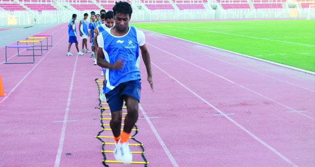 40 لاعبا بمركز ألعاب القوى لإعداد الناشئين بمحافظة الداخلية