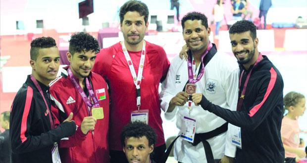 منتخب التايكواندو يحقق 3 ميداليات ملونة في بطولة قطر