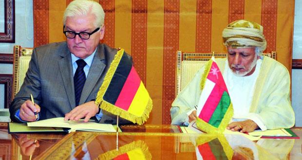 النعماني ويوسف بن علوي يستقبلان وزير الخارجية الألماني