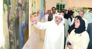"""اختتام مهرجان """"سعاد الصباح للفن التشكيلي الخليجي"""" بتكريم الفائزين بجوائزه"""