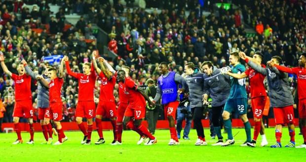 ليفربول يجتاز عقبة دورتموند فى إثارة كبيرة وفياريال وأشبيلية وشاختار إلى نصف النهائي