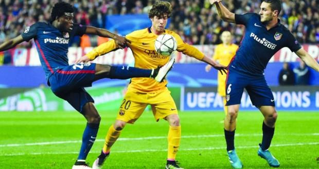 اتلتيكو مدريد يسقط برشلونة ويجرده من اللقب بايرن ميونيخ يعبر عقبة بنفيكا إلى لنصف النهائي