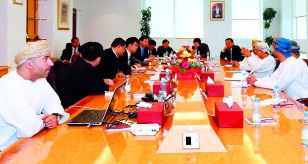 وفد صيني يطلع على مقومات الاستثمار في المؤسسة العامة للمناطق الصناعية