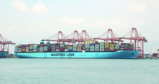 ميناء صلالة يستقبل أكبر سفينة حاويات