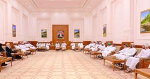 رئيس مجلس الدولة يستقبل شيوخ ورشداء ولاية مسقط