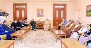 المنذري وبدر بن حمد يستقبلان رئيسة المجلس الاتحادي الروسي