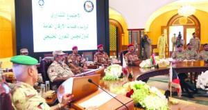 النبهاني يشارك في اجتماع رؤساء أركان دول المجلس