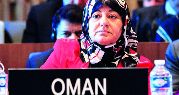 مندوبة السلطنة لدى اليونسكو أكدت على أهمية تعزيز ثقافة السلام والعمل على اتخاذ التدابير الوقائية للحد من الصراعات