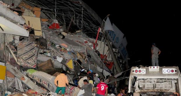 الاكوادور: مصرع المئات بزلزال عنيف والآلاف تحت الأنقاض