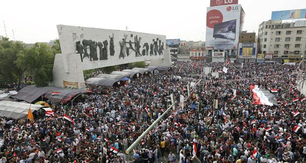 العراق : مظاهرات عارمة تطالب باصلاحات .. وجلسة شاملة للبرلمان باستضافة العبادي