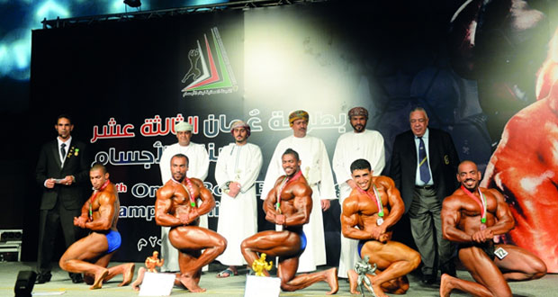 ختام ناجح ومثير لفعاليات طولة عمان الـ13 لبناء الأجسام