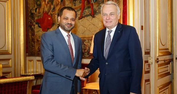 الأمين العام لوزارة الخارجية يلتقي بوزير الخارجية الفرنسي وعدد من المسؤولين الفرنسيين