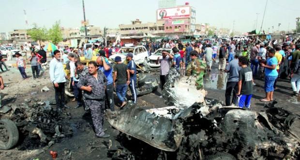 العراق : عشرات القتلى والجرحى في سلسلة تفجيرات انتحارية تبنتها (داعش) ببغداد