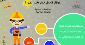 غدا القوى العاملة تبدأ تطبيق حضر العمل في مواقع العمل الإنشائية والأماكن المكشوفة خلال الصيف