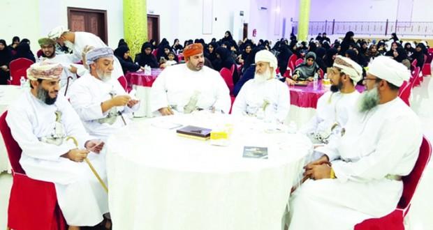 تكريم المجيدين في مسابقة حفظ القرآن الكريم بتعليمية جنوب الباطنة