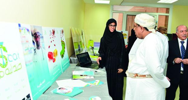 افتتاح معرض تحكيم مشاريع التخرج لقسم التصميم فـي كلية الزهراء للبنات