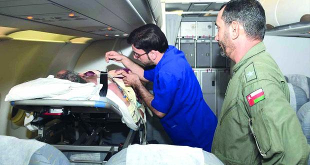 (سلاح الجو) يسير رحلة خاصة لإعادة مواطن مريض من إيران