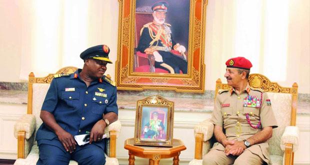 النبهاني وسالم قطن يستقبلان وفد كلية الدفاع الوطني النيجيرية