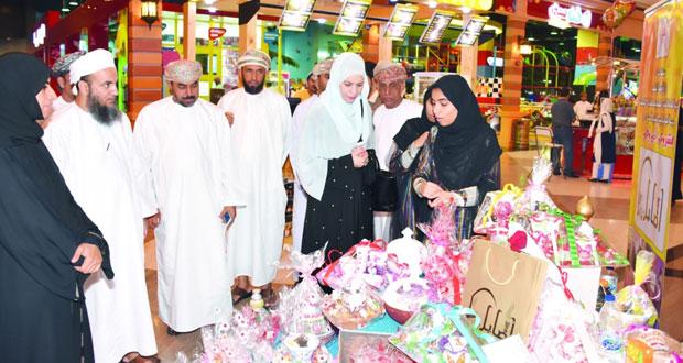 افتتاح معرض تطوير الصناعات الحرفية لطلبة وطالبات مدارس شمال الباطنة