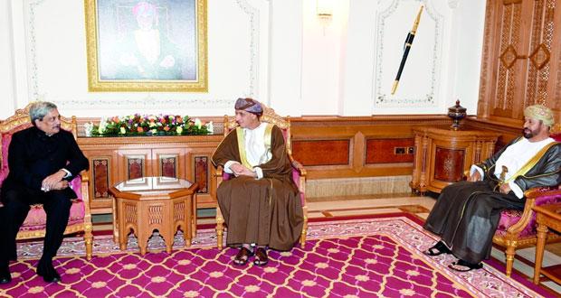 فهد بن محمود يستقبل وزير الدفاع الهندي