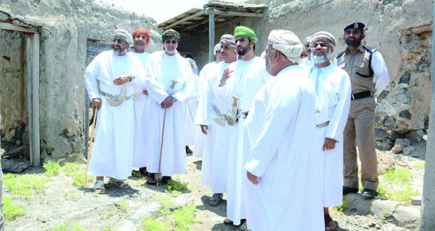 وزير السياحة يزور عددا من المواقع السياحية بإبراء