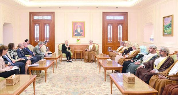 رئيسا مجلسي الدولة والشورى يستقبلان وفد البرلمان الأوروبي