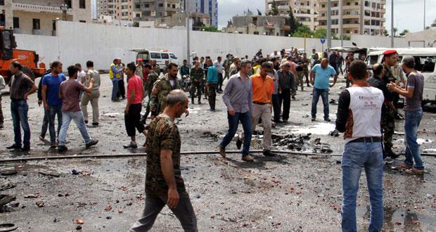 سوريا: قتلى وجرحى بالعشرات في تفجيرات إرهابية متزامنة بطرطوس وجبلة