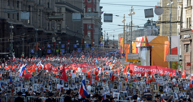 روسيا تحتفل بمرور 71 عاما على انتصارها في الحرب العالمية الثانية