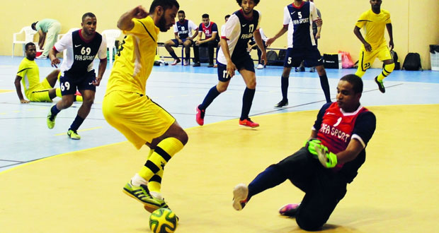 اليوم انطلاق منافسات دور الـ 16 بالنسخة الخامسة عشـرة لمسابقة كرة قدم الصالات ببوشـر