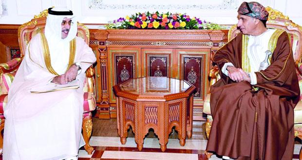 جلالة السلطان يتلقى رسالتين من الرئيس الموريتاني ونائب رئيس الإمارات