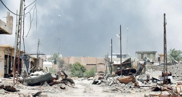معارك مع تقدم القوات العراقية بأحياء شمال الفلوجة