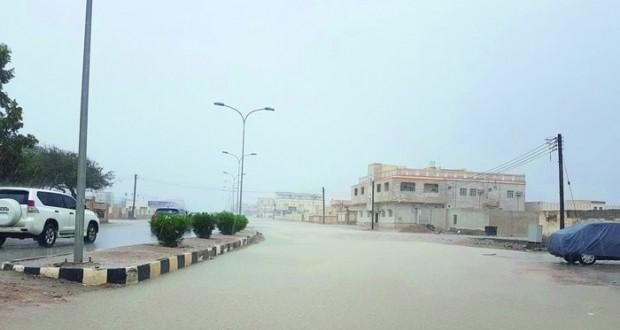 أمطار على عدد من ولايات محافظة ظفار