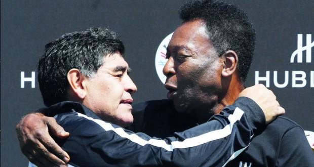 مارادونا وبيليه يلتقيان في مباراة ودية بباريس