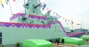"""الاحتفال باستلام سفينة البحرية السلطانية العمانية """"خصب"""""""