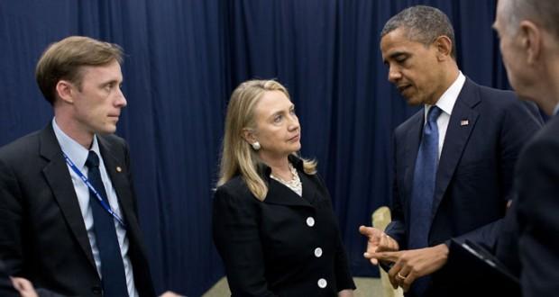 الرئيس الأمريكي باراك أوباما يعلن دعم هيلاري كلينتون في السباق لرئاسة الولايات المتحدة
