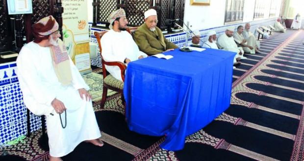 إدارة الأوقاف والشؤون الدينية بظفار تنظم ندوة علمية بجامع عمر الرواس