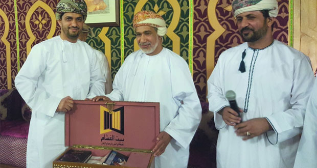 مؤسسة بيت الغشام للنشر والترجمة تكرم الإعلامي فيصل العلوي