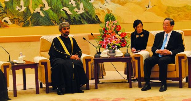 رئيس مجلس الشورى يلتقي رئيس المجلس الوطني للمؤتمر الاستشاري السياسي للشعب الصيني