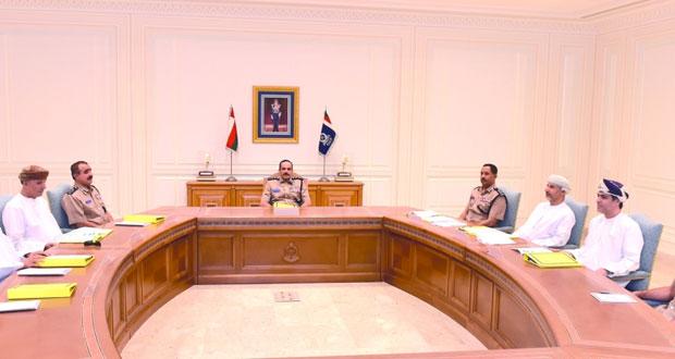 المفتش العام للشرطة والجمارك يترأس اجتماع مجلس إدارة الهيئة العامة للدفاع المدني والإسعاف